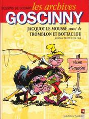 Les archives Goscinny t.4 ; Jacquot le mousse; Trombon et Bottaclou - Intérieur - Format classique