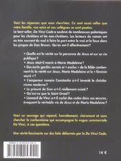 Da Vinci La Grande Mystification - 4ème de couverture - Format classique