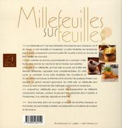 Millefeuilles sur feuilles - 4ème de couverture - Format classique