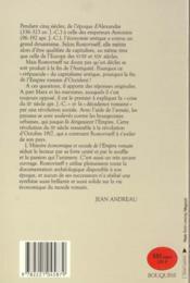 Histoire Economique Et Sociale De L'Empire Romain - 4ème de couverture - Format classique