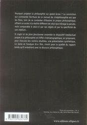 La philosophie sur grand écran ; manuel de cinéphilosophie - 4ème de couverture - Format classique