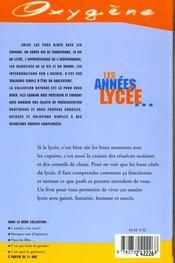 Annees Lycee (Les) - 4ème de couverture - Format classique