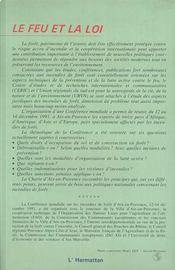 Le Feu Et La Loi - 4ème de couverture - Format classique