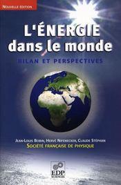 L'énergie dans le monde ; bilan et perspectives - Intérieur - Format classique