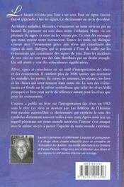 Rêves, signes et coïncidences ; dictionnaire d'interprétation - 4ème de couverture - Format classique