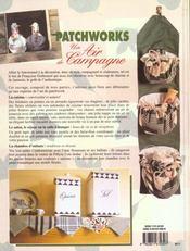Patchworks, un air de campagne - 4ème de couverture - Format classique
