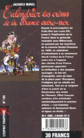 Calendrier Des Crimes De La France Outre Mer - 4ème de couverture - Format classique