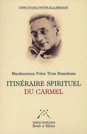 Itineraire spirituel du Carmel - Couverture - Format classique