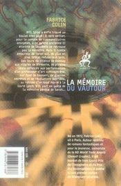 La mémoire du vautour - 4ème de couverture - Format classique