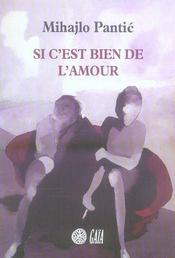 Si C'Est Bien De L'Amour - Intérieur - Format classique