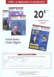 Revue Politique Et Parlementaire N.1013 ; Refondations ? - 4ème de couverture - Format classique