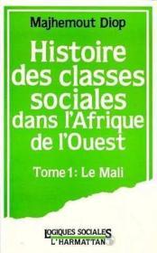 Histoire Des Classes T.1sociales En Afrique - Couverture - Format classique
