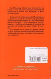 Contes moundang du tchad - 4ème de couverture - Format classique