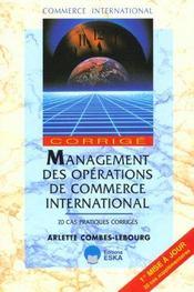 Management Des Operations De Commerce International (Corrige) - Intérieur - Format classique