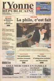 Yonne Republicaine (L') N°134 du 10/06/2005 - Couverture - Format classique