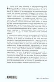 Introduction Aux Probabilites Application Aux Telecommunications Avec Exercices Et Problemes Commen - 4ème de couverture - Format classique