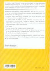 Mecanique Du Point Fiches Methodes Et Exercices Corriges 1re Annee Mpsi-Pcsi-Ptsi-Tsi - 4ème de couverture - Format classique