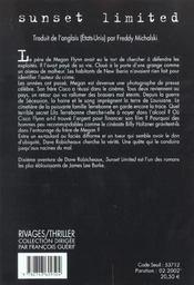 Sunset limited - 4ème de couverture - Format classique