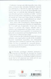 La Metropole Des Individus - 4ème de couverture - Format classique