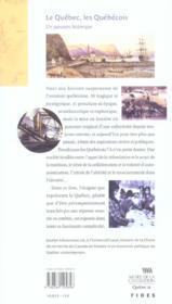 Le Quebec, Les Quebecois ; Un Parcours Historique - 4ème de couverture - Format classique