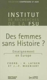 Femmes sans histoire ? - Couverture - Format classique