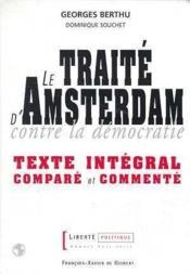 Le traite d'amsterdam - Couverture - Format classique