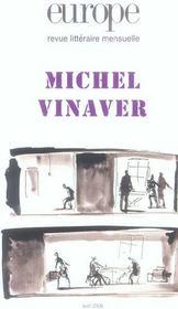 Revue Europe N.924 ; Michel Vinaver - Intérieur - Format classique