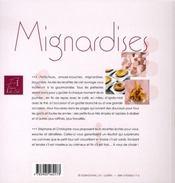 Mignardises - 4ème de couverture - Format classique
