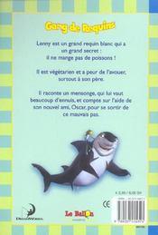Gang De Requins ; Les Mensonges De Lenny - 4ème de couverture - Format classique