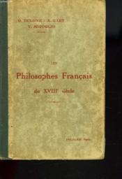 LES PHILOSOPHES FRANCAIS DU XVIIIe SIECLE. - Couverture - Format classique