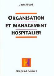 Organisation Et Management Hospitalier - Intérieur - Format classique