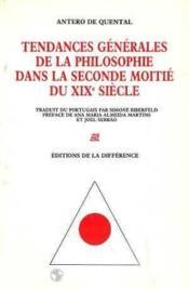 Tendances De La Philoophie Dans La Seconde Moitie Du Xixe S - Couverture - Format classique
