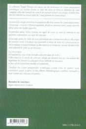 Electrostatique Magnetostatique Fiches Methodes Et Exercices Corriges 1re Annee Mpsi-Pcsi-Ptsi-Tsi - 4ème de couverture - Format classique