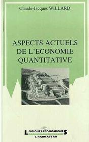 Aspects Actuels De L'Economie Quantitative - Intérieur - Format classique