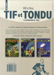 Tif et Tondu ; intégrale t.1 ; le diabolique M.Choc - 4ème de couverture - Format classique