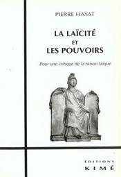 Laicite Et Les Pouvoirs (La) - Intérieur - Format classique