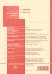 La Rouelle Et La Croix Destins Des Juifs D Occident - 4ème de couverture - Format classique