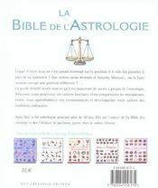 La bible de l'astrologie - 4ème de couverture - Format classique