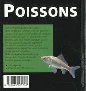 Poissons - 4ème de couverture - Format classique