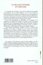 Fils De L'Homme Et L'Epouse - 4ème de couverture - Format classique