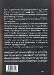 Toute La Vie Pour Apprendre - 4ème de couverture - Format classique