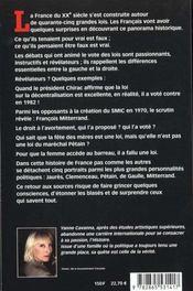 Qui A Voté Quoi ? L'Histoire Des Grandes Lois Du Xxe Siècle - 4ème de couverture - Format classique