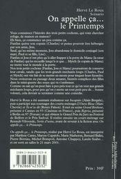 On Appelle Ca... Le Printemps - 4ème de couverture - Format classique