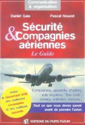 Securite & compagnies aeriennes. le guide. tout ce que vous devez savoir avant de prendre l'avion. - Intérieur - Format classique