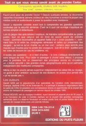 Securite & compagnies aeriennes. le guide. tout ce que vous devez savoir avant de prendre l'avion. - 4ème de couverture - Format classique
