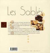 Les sablés - 4ème de couverture - Format classique
