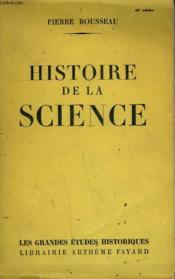 Histoire De La Science. - Couverture - Format classique