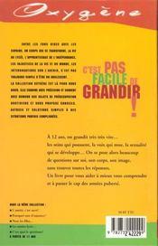 C'Est Pas Facile De Grandir ! - 4ème de couverture - Format classique