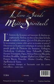 Le livre des grands maîtres spirituels - 4ème de couverture - Format classique