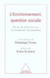 L'Environnement, Question Sociale - Intérieur - Format classique